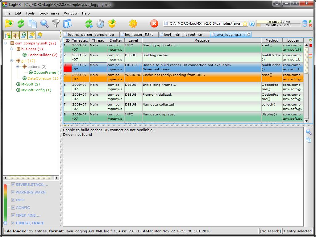 LogMX screenshot